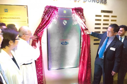 Unveiling of the Tau Mu plaque in the TAC